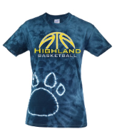 HUSKIES BASKETBALL TIE DYE TEE SHIRT
